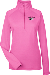 Ladies Tech Stripe 1/4-Zip Pullover with Design