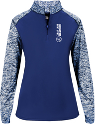 Ladies Sport Blend 1/4 Zip Pullover with Design
