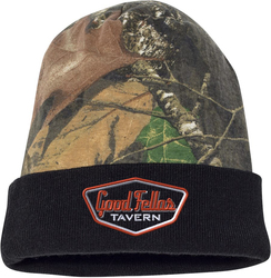 Camo Knit Cap with Design