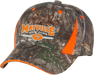 Camo Cap with Hi-Vis Trim with Design