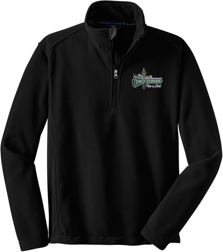 1/4-Zip Fleece Pullover with Design