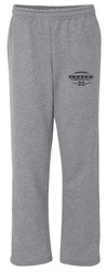 8oz. Open Bottom Pocket Sweatpants with Design