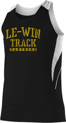 Womens Loose Fit Track Tank with Design