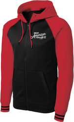Varsity Full-Zip Hooded Sweatshirt with Design