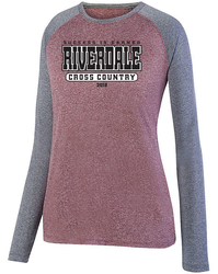 Ladies Kinergy Two Color Long Sleeve Raglan Tee with design