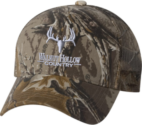 Classic Mesh-Back Camo Cap with Design