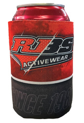 Image of a full color sublimated can coozie.