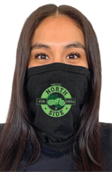 Next Level Gaiter Face Mask With One Color Logo.
