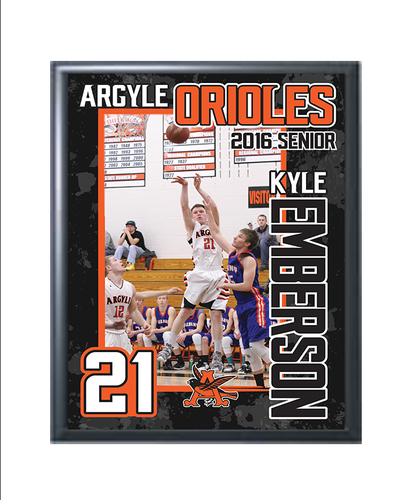 "9"" x 12"" Sublimated Photo Plaque with Design"