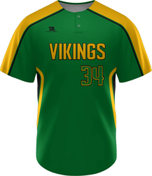 Lite Sublimated Two Button Baseball Jersey with Design