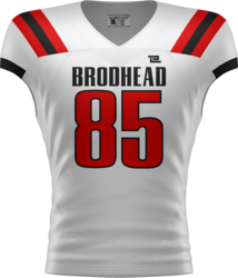 1-Ply Reversible Sublimated Football Jersey with Design