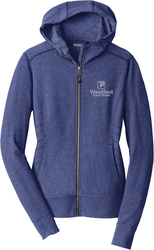 Ladies Cadmium Full-Zip Hooded Sweatshirt with Design