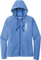 Ladies Fleece Full-Zip Hooded Sweatshirt with Design