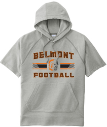 Fleece Short Sleeve Hooded Sweatshirt with Design