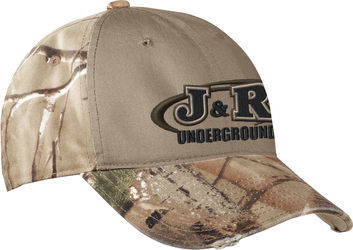 Contrast Panel Front Camo Cap with Design