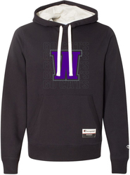 Sueded Fleece Hooded Sweatshirt with Design