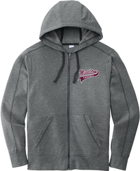 Fleece Full-Zip Hooded Sweatshirt with Design