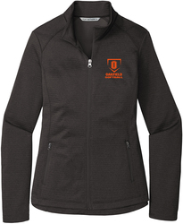 Ladies Diamond Heather Fleece Full-Zip Jacket with Design