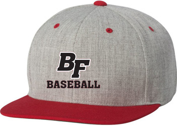 Flat Bill Snapback Hat with Design