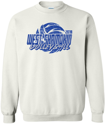 crew sweatshirt with design
