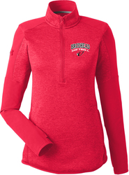 Ladies Qualifier Hybrid Corporate 1/4-Zip Pullover with Design