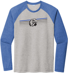 Long Sleeve Tri-Blend Wicking Raglan T-Shirt with Design