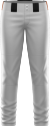 Prolook Game Twill Full Length Open Bottom Softball Pants