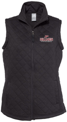 Women's Quilted Full-Zip Vest with Design