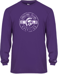 Badger B-Core Long Sleeve Performance T-Shirt with Design