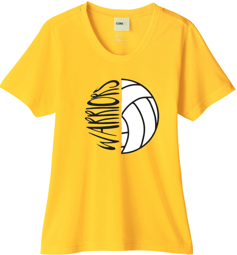 Ladies Fusion Chromasoft T-Shirt with Design