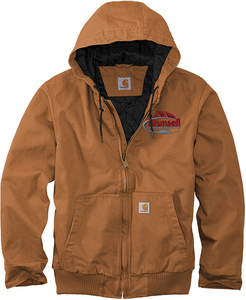 Carhartt Washed Duck Active Jacket with Design