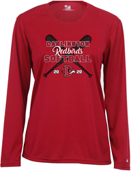 Badger Ladies B-Core Long Sleeve Performance T-Shirt with Design