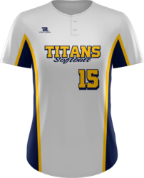 Prolook Sublimated Quick-Turn 2 Button Short Sleeve Softball Jersey
