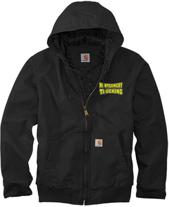 Carhartt Tall Washed Duck Active Jacket with Design