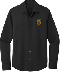 City Stretch Button Up Shirt with Design