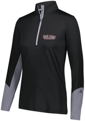 Ladies Hybrid 1/4-Zip Pullover with Design