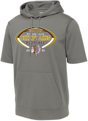 Short Sleeve Performance Hooded Sweatshirt with Design