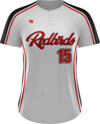 Prolook Game Twill Two Button Short Sleeve Softball Jersey