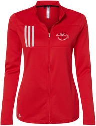 Adidas Ladies 3-Stripes Double Knit Full-Zip Jacket with Design