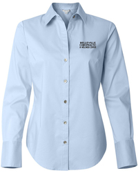 Women's Cotton Stretch Button Up Shirt with Design