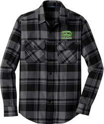 Plaid Flannel Shirt with Design