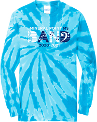 Port & Company Tie-Dye Long Sleeve T-Shirt with Design