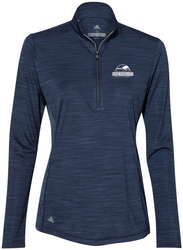 Women's Lightweight Melange 1/4-Zip Pullover with Design