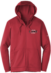 Therma-FIT Full-Zip Fleece Hooded Sweatshirt with Design