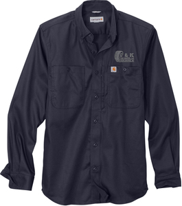 Carhartt Rugged Professional Series Long Sleeve Industrial Work Shirt with Design