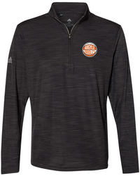 Lightweight Melange 1/4-Zip Pullover with Design