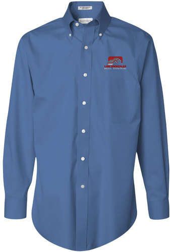 Pinpoint Oxford Button Up Shirt with Design