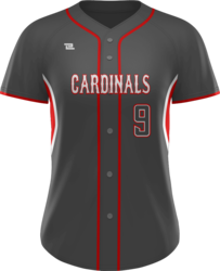 Prolook Game Twill Full Button Short Sleeve Softball Jersey