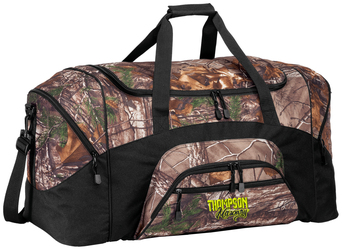 Camouflage Colorblock Sport Duffel with Design