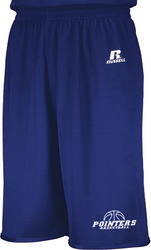 russell reversible short with design - royal side